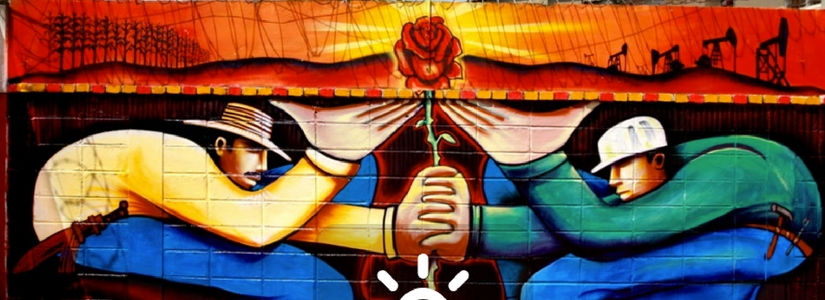 Mural, Colombia, CERLAC