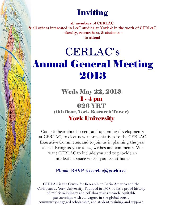 CERLAC Annual General Meeting 2013