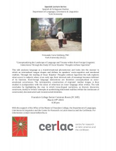 CarraSalsberg Lecture