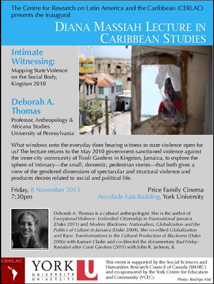 The Inaugural Diana Massiah Lecture in Caribbean Studies & Book Launch for the Encyclopedia of Caribbean Religions.