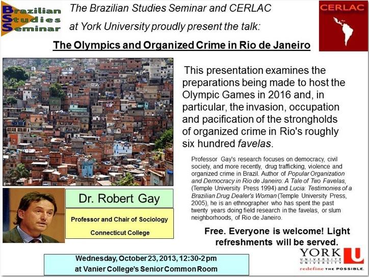 The Olympics and Organized Crime in Rio de Janeiro