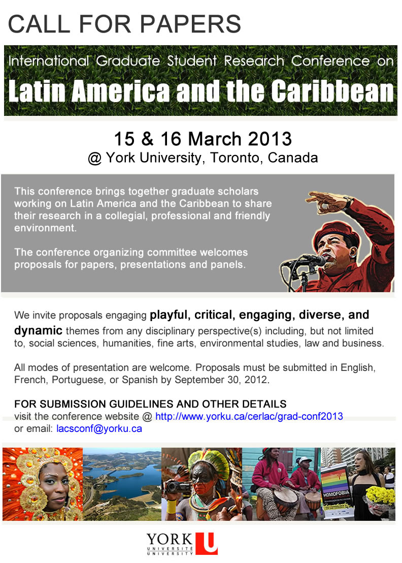 3rd International Graduate Student Research Conference on Latin America & the Caribbean