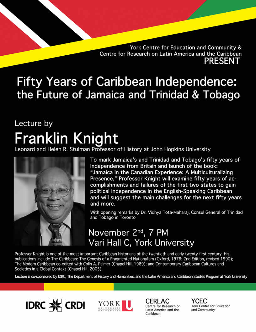 50 years of Independence the Future of Jamaica & Trinidad & Tobago