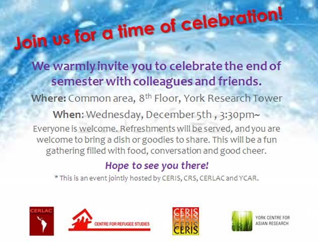 CERLAC 8th floor YRT End-of-Year Celebration