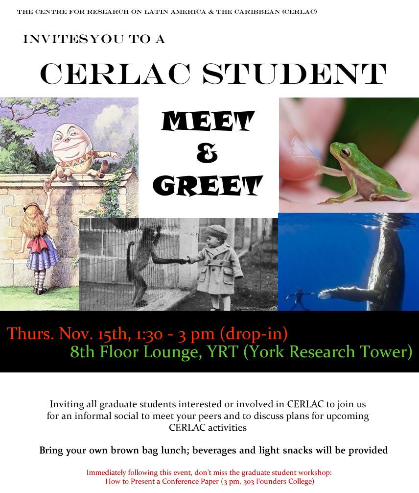 CERLAC Student Meet & Greet