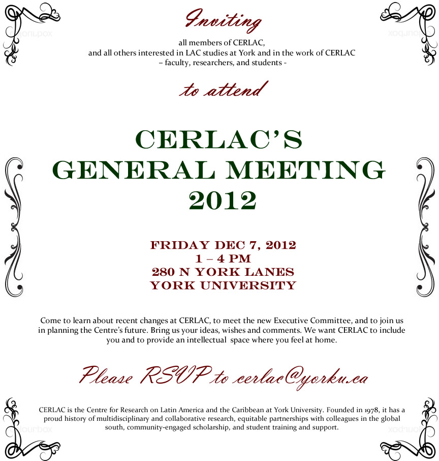 CERLAC's General Meeting 2012