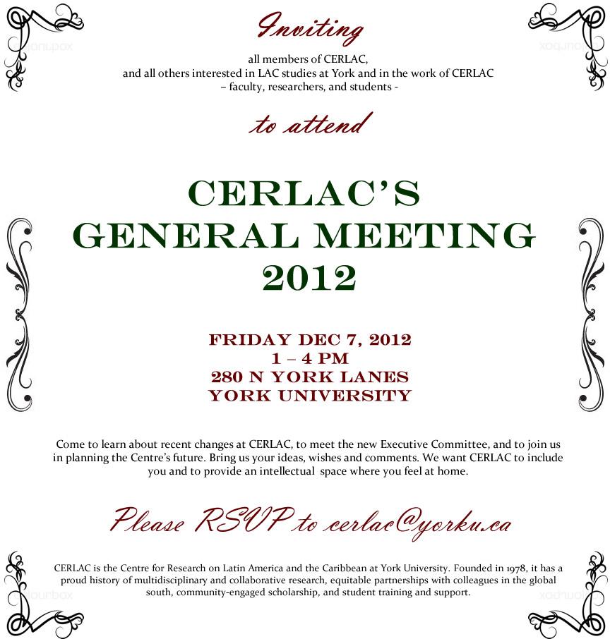 CERLAC's General Meeting 2012