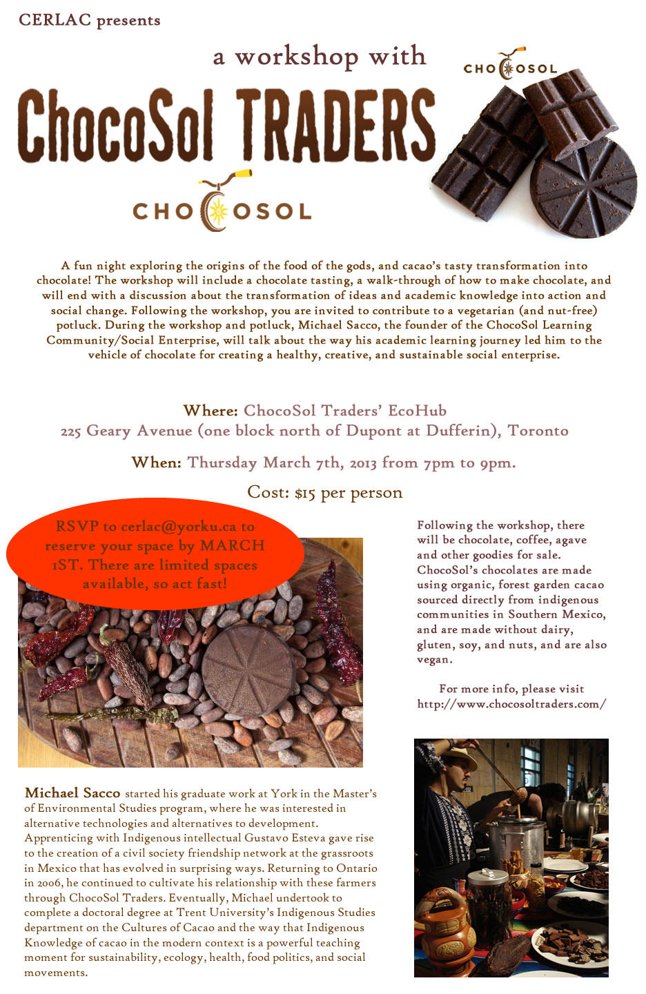 CHOCOLATE! with Chocosol Social Enterprise