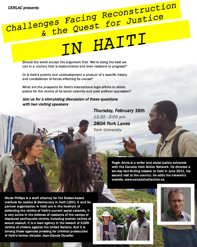 Challenges Facing Reconstruction & Justice in Haiti