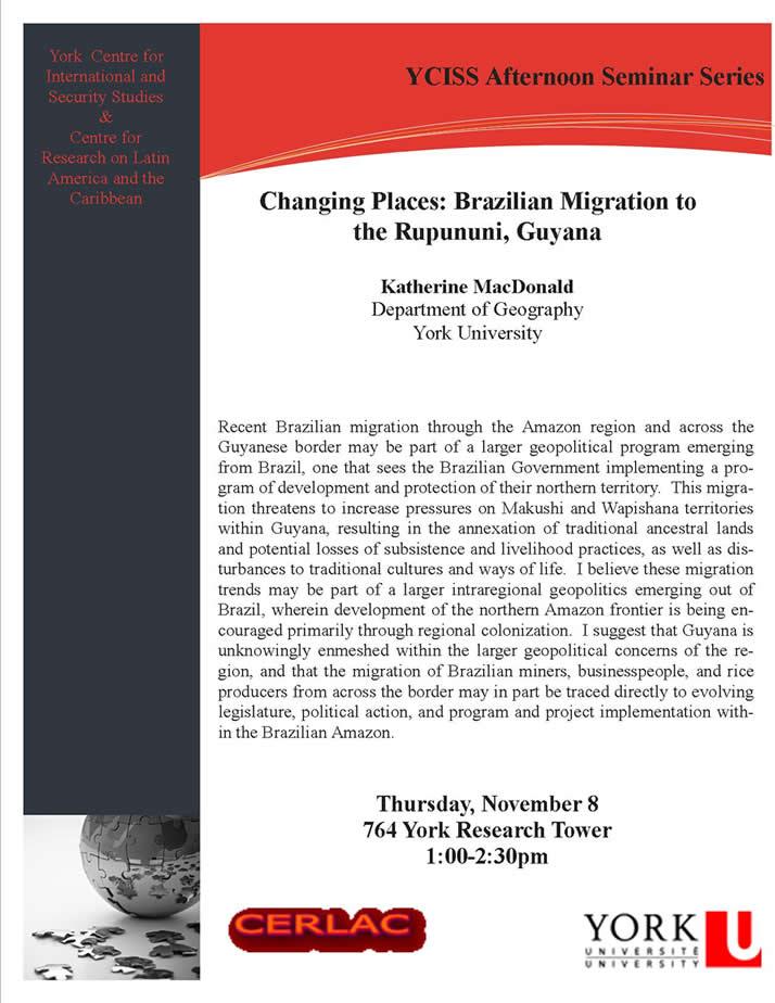 Changing Places Brazilian Migration to the Rupununi, Guyana