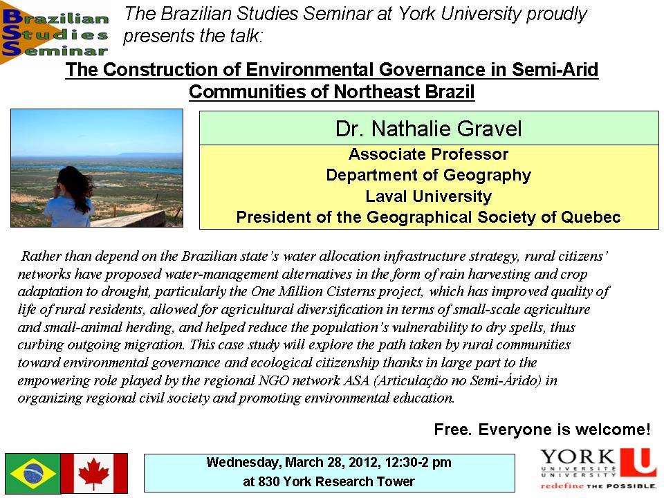 Environmental Governance in Northeast Brazil
