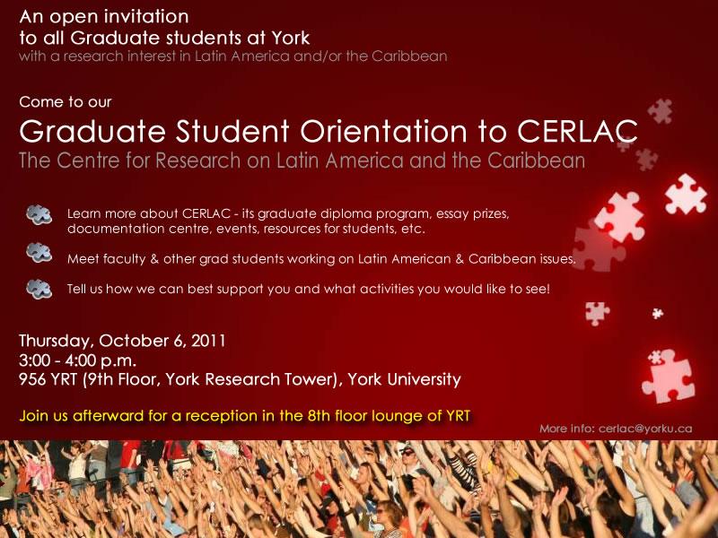 Graduate Student Orientation to CERLAC