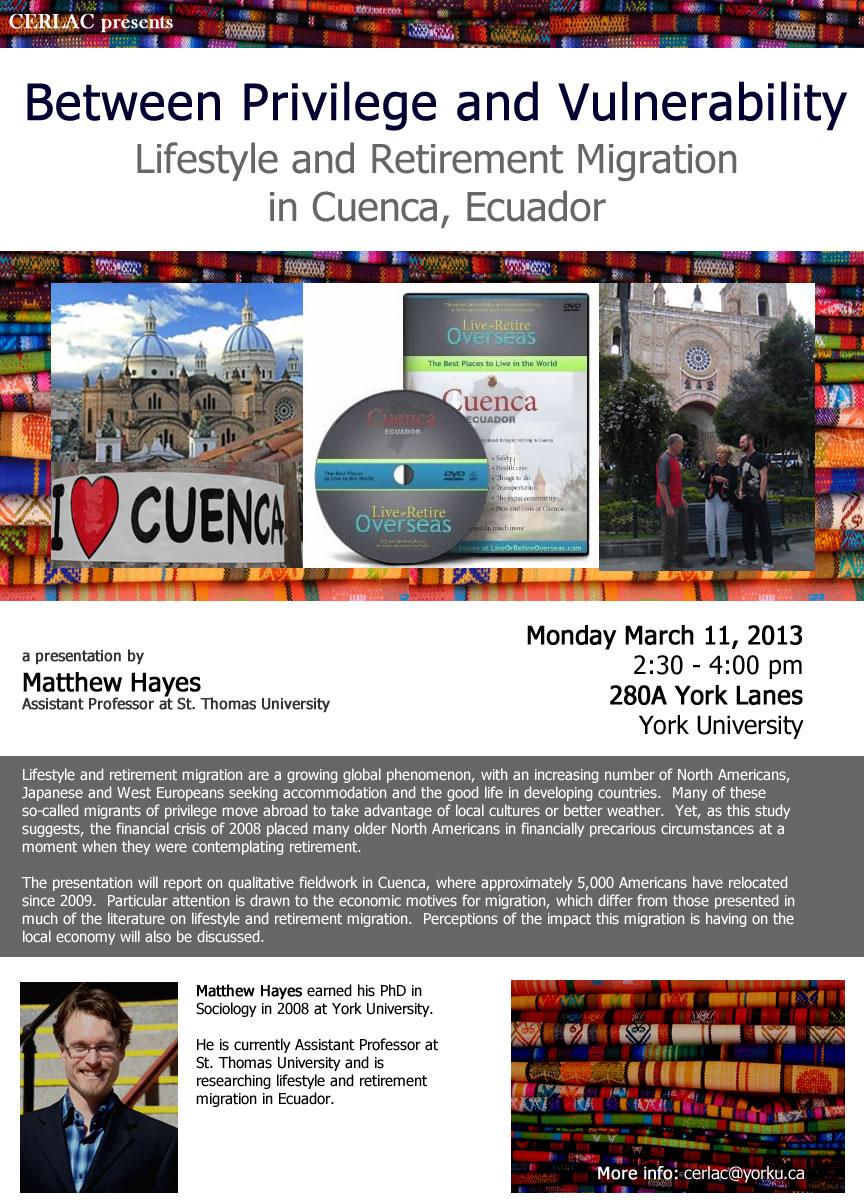 Lifestyle & Retirement Migration in Cuenca, Ecuador