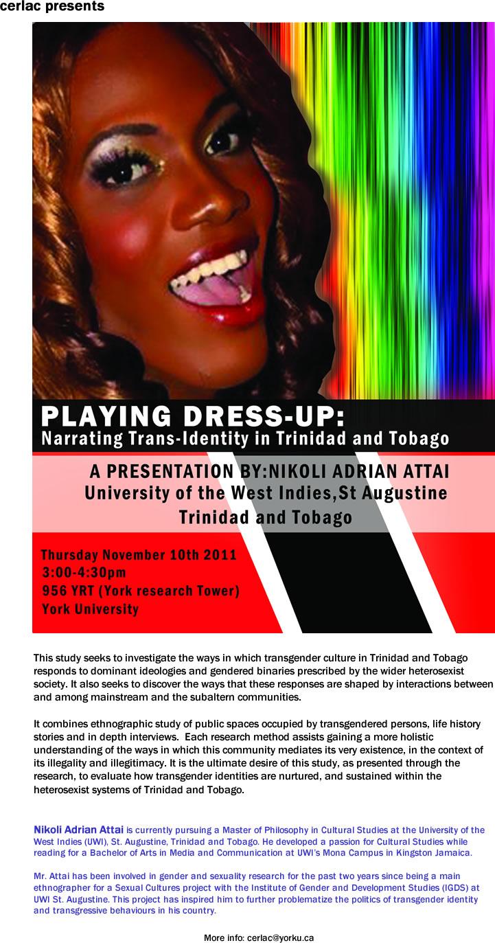 Narrating Trans-Identity in Trinidad & Tobago