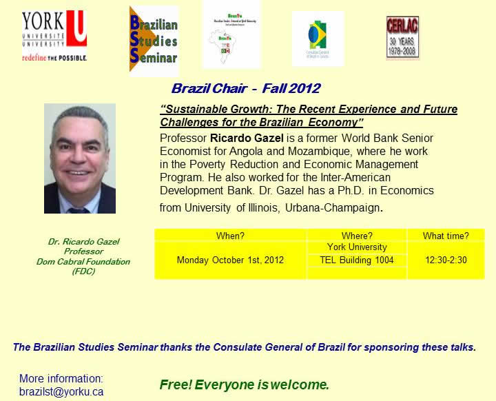Sustainable Growth Experiences & Challenges for the Brazilian Economy