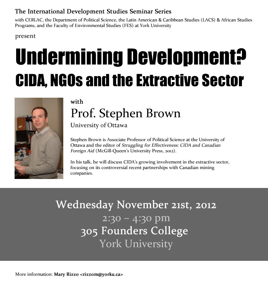 Undermining Development CIDA, NGOs & the Extractive Sector