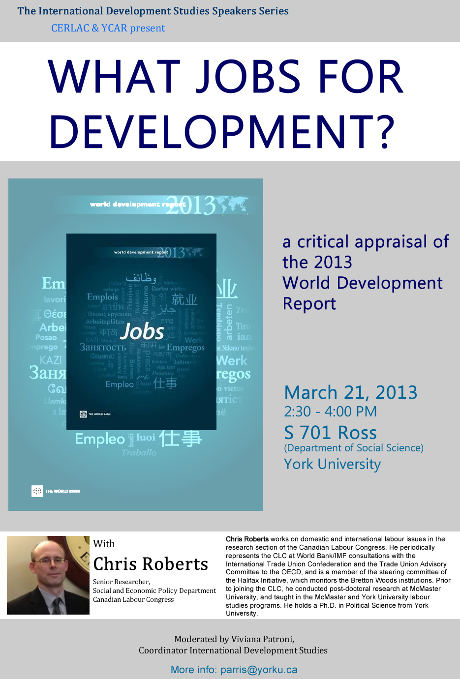 What jobs for development