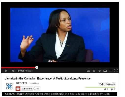 Andrea Davis & Carl James discuss Jamaicans in Canada in online IDRC video