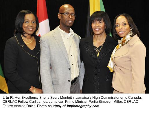 Andrea Davis & Carl James meet with Jamaican PM