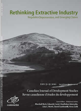 canadian journal of development studies, rethinking extractive industries