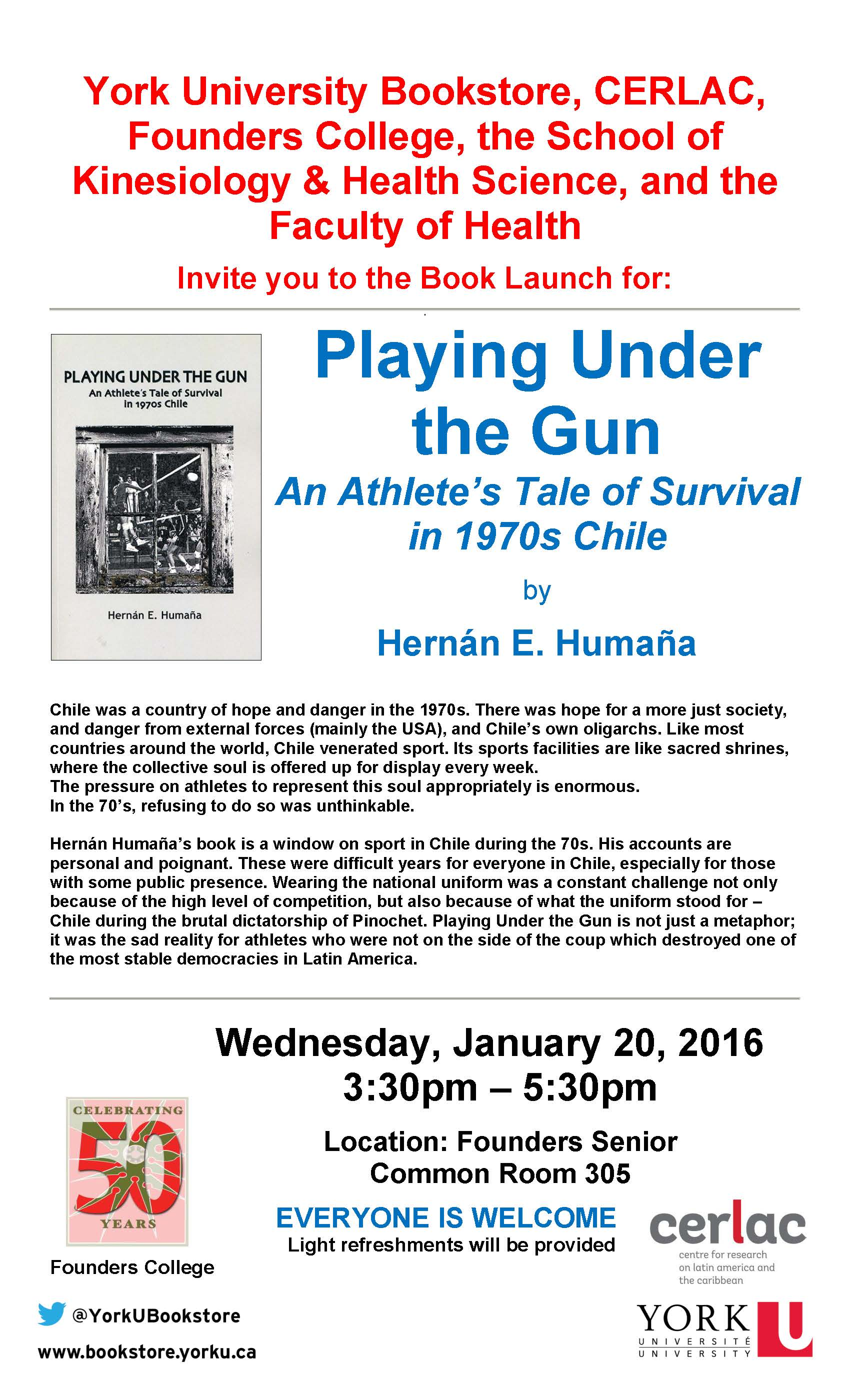 Hernan Humana Book Launch Poster