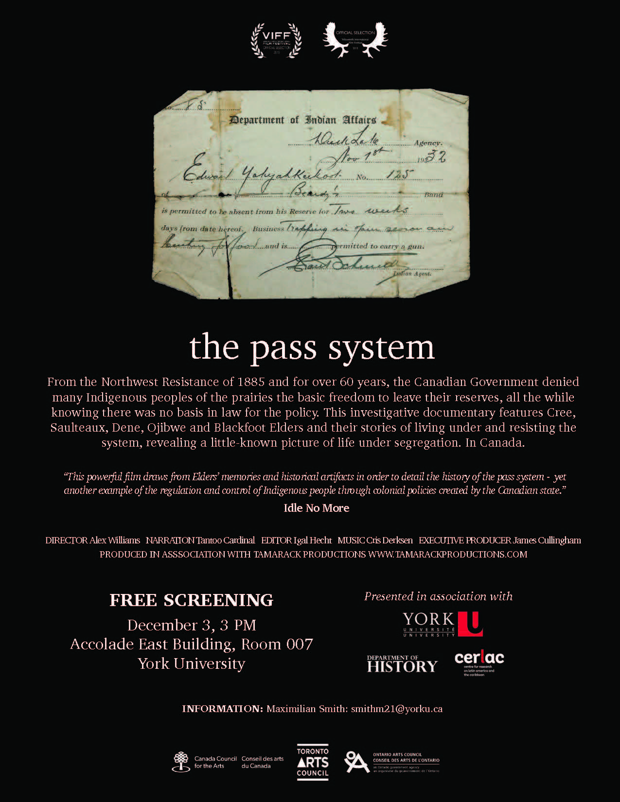 The pass system Poster York Screening reduced
