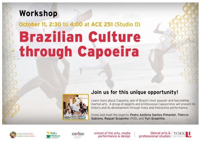 Workshop: Brazilian Culture through Capoeira. @ ACE 251 (Accolate East Studio D)