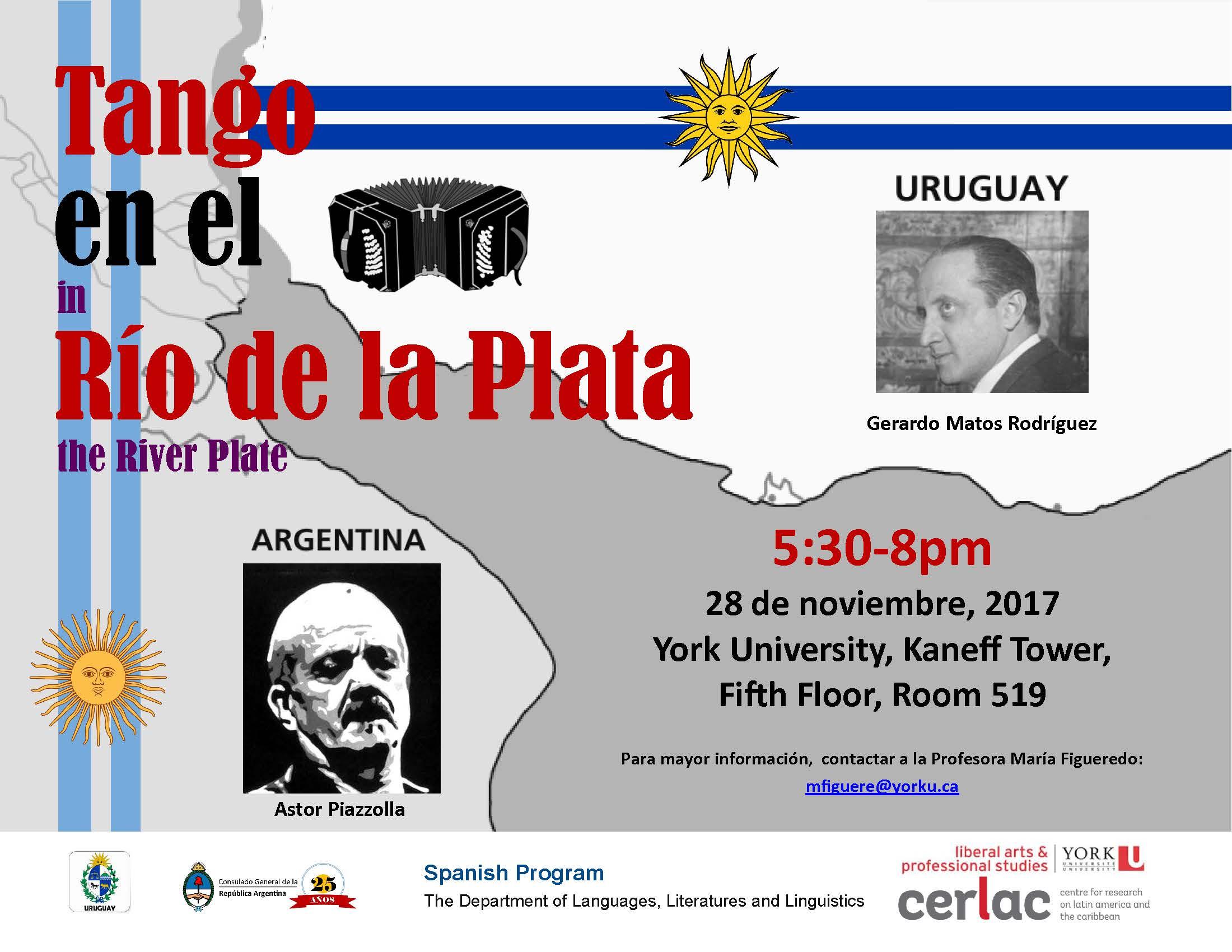 Tango en el Rio de la Plata (Tango in the River Plate) @ Kaneff Tower 519