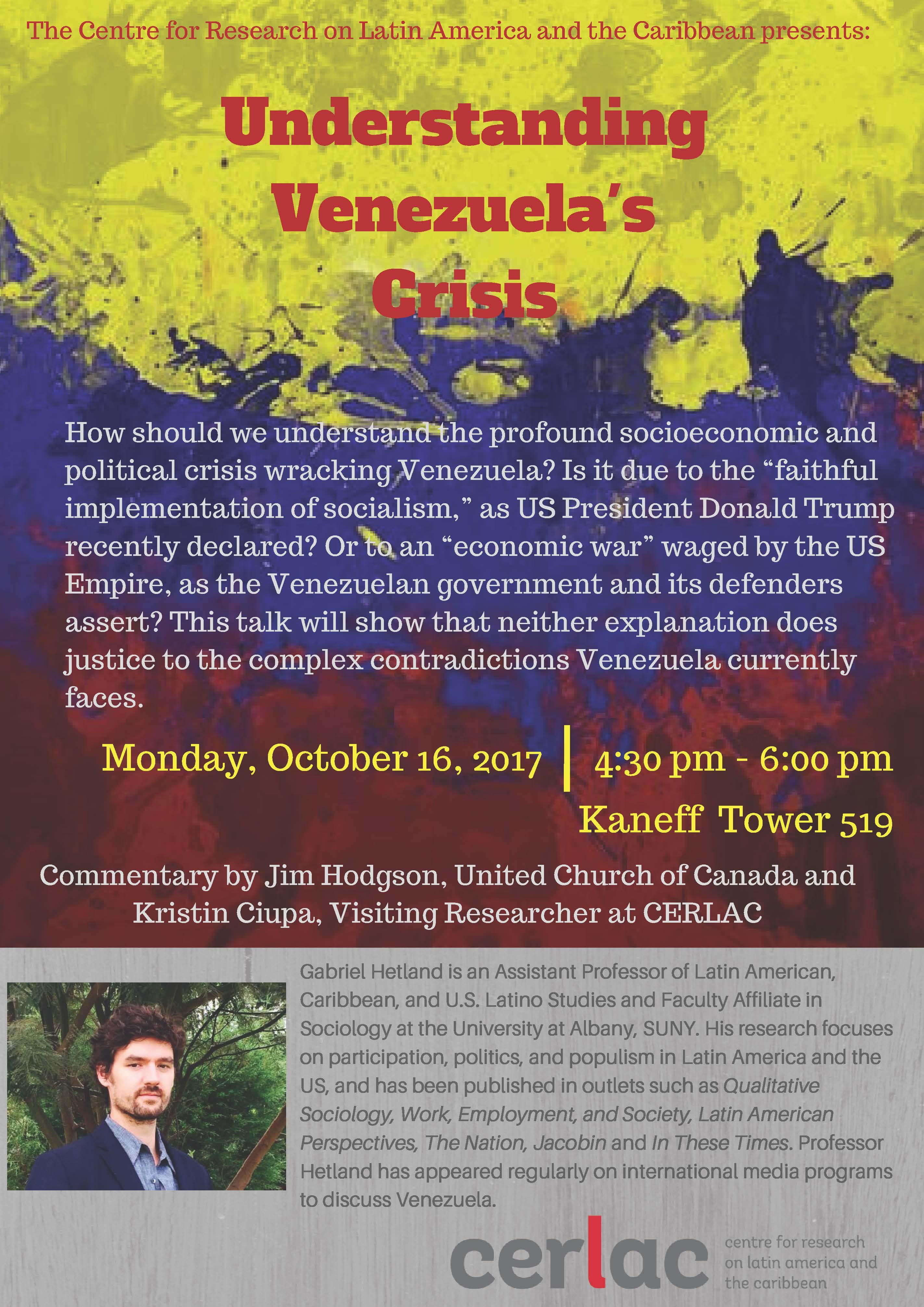 Understanding Venezuela's Crisis @ Kaneff Tower 519 | Toronto | Ontario | Canada
