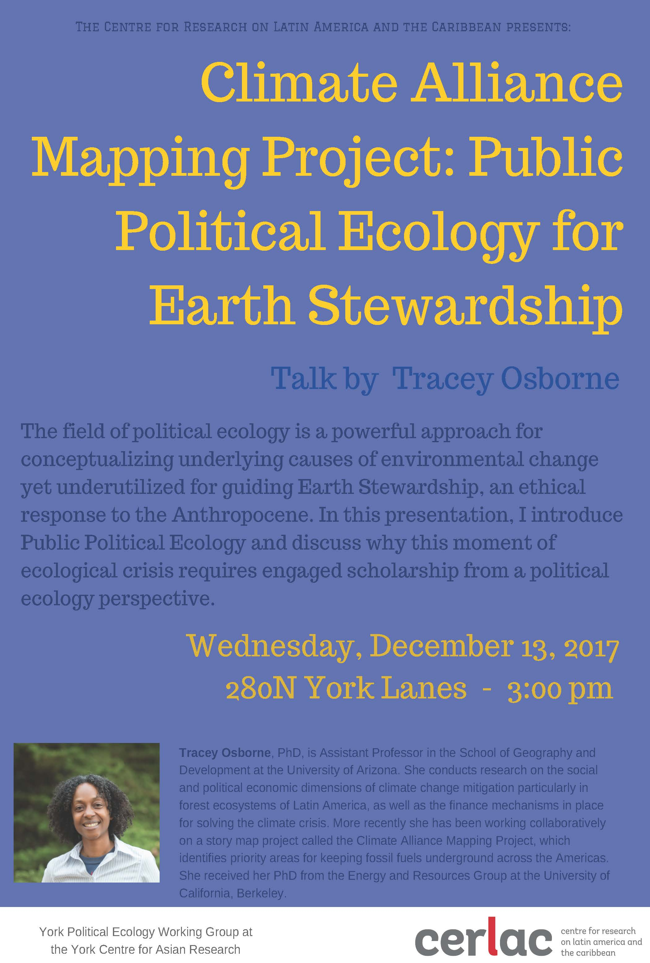 Climate Alliance Mapping Project: Public Political Ecology for Earth Stewardship @ 280N York Lanes
