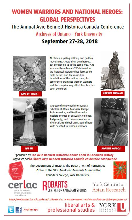 Women Warriors and National Heroes: Global Perspectives @ Archives of Ontario - York University | Toronto | Ontario | Canada