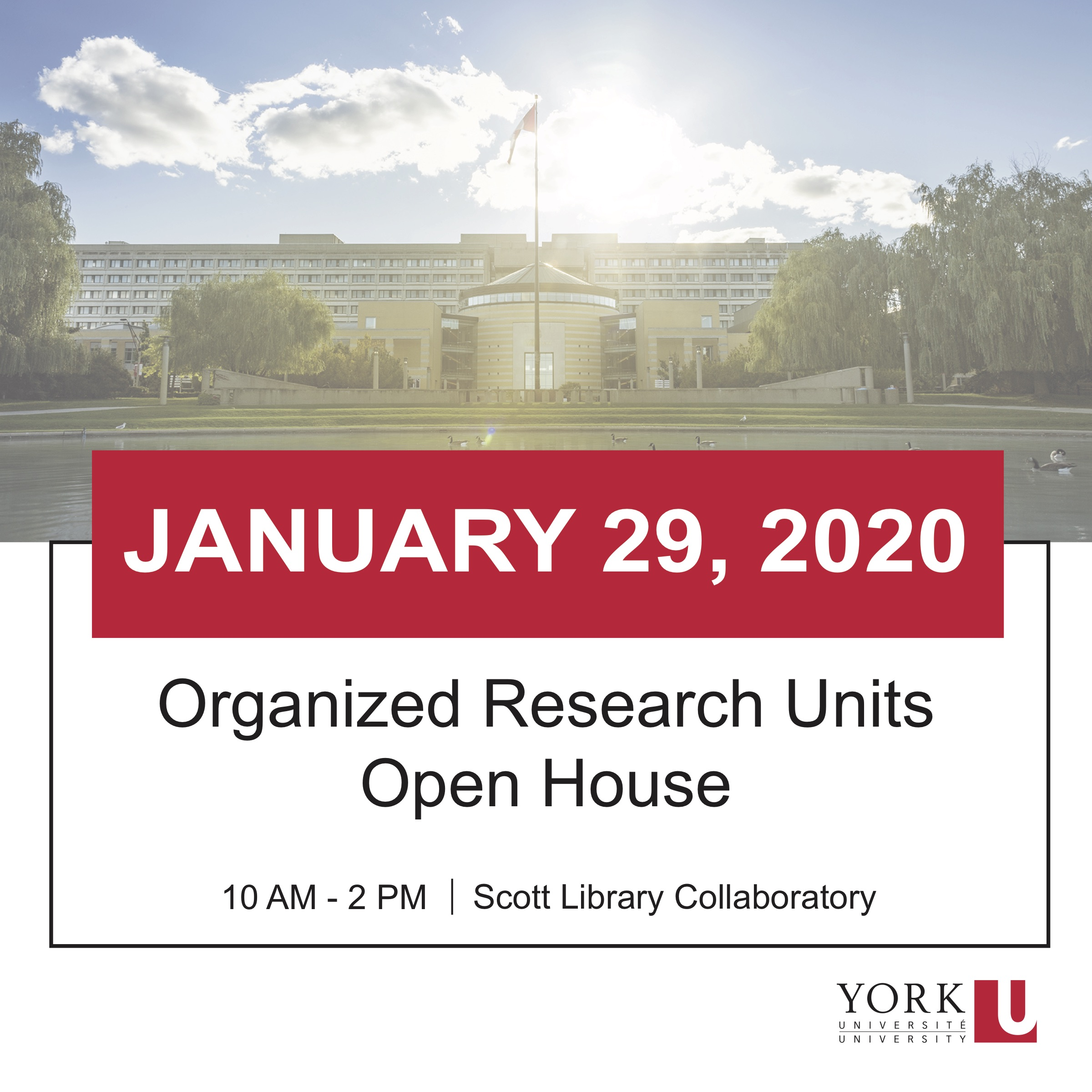 Organized Research Units Open House @ Scott Library Collaboratory