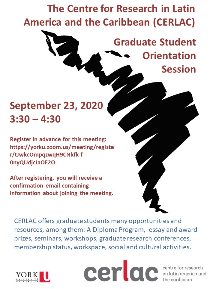 CERLAC Graduate Orientation Session